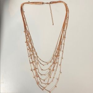 Premier Designs rose gold necklace